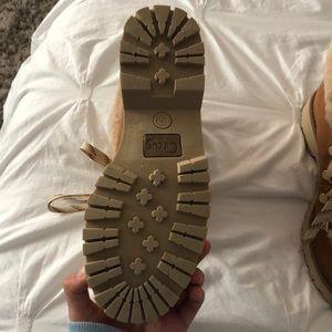 Sam Edelman Shoes - Sam Edelman faux fur lace up booties